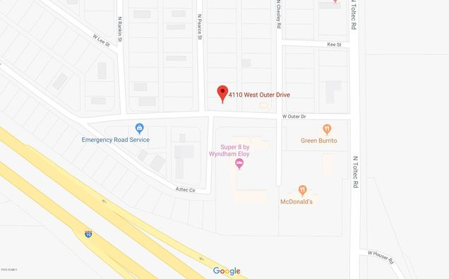 Map Of Eloy Arizona.4110 W Outer Drive Unit 89